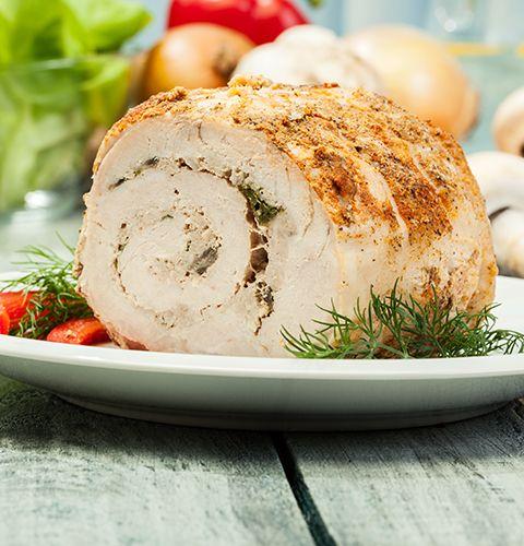 Мясной рулет с грибами и зеленью : пошаговый рецепт с фото, купить ингредиенты