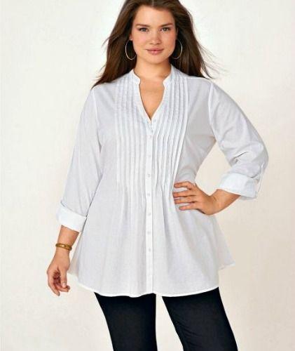 femmes rondes oubliez le noir pour une chemise blanche originale big girls pinterest. Black Bedroom Furniture Sets. Home Design Ideas