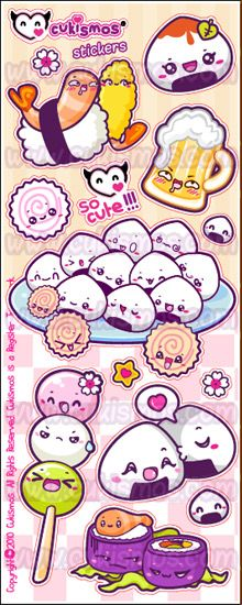 Japan food Stickers by ~SHIRA5 on deviantART