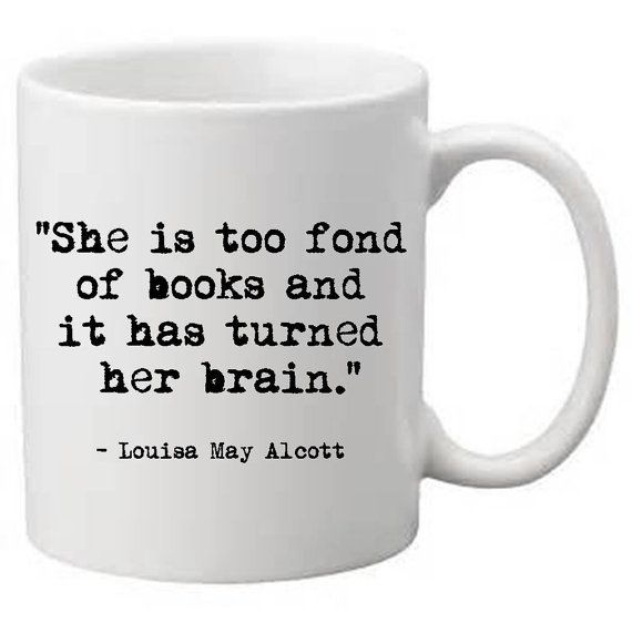 Custom coffee mug literary quote unique by JenniferDareDesigns, $20.00