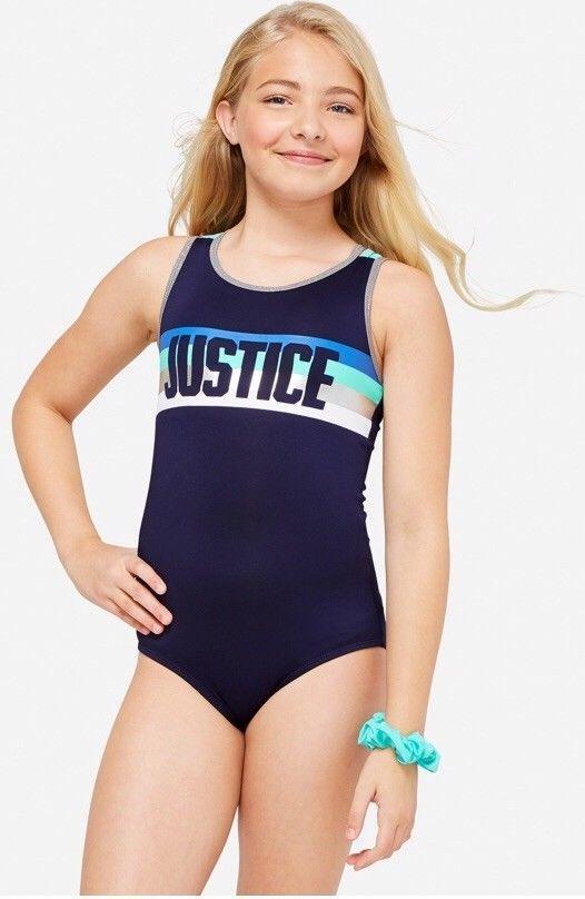 NWT Girls Justice stripe strappy leotard gymnastics striped navy blue unitard 7    eBay... #justice #leotard #unitard #gymnastics #girls #girlsfashion #fashion #shopnow #buyitnow #tumbling #ebay