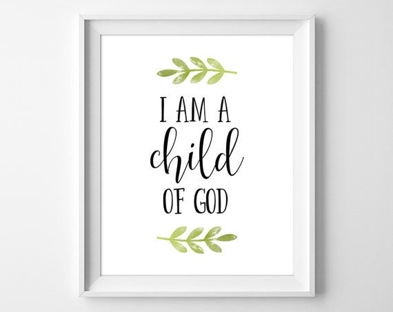 Baptism Gift I am a Child of God Christian by ClaresPrintables