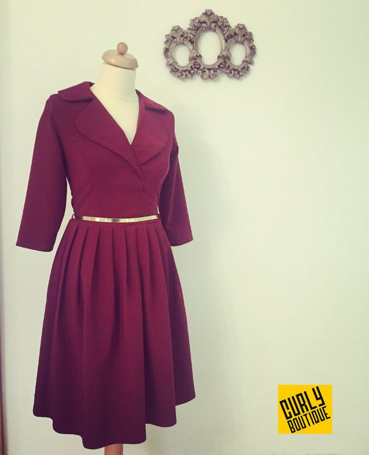Curly Boutique  Dress marsala