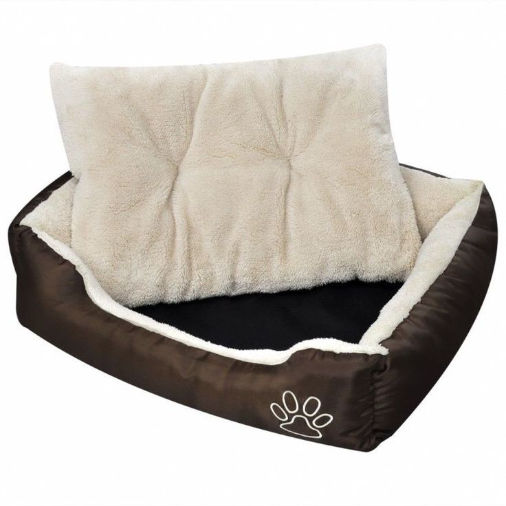 Luxurious Dog Basket Brown Home Indoors Comfortable Washable Cushion Warm Bed #LuxuriousDogBasket