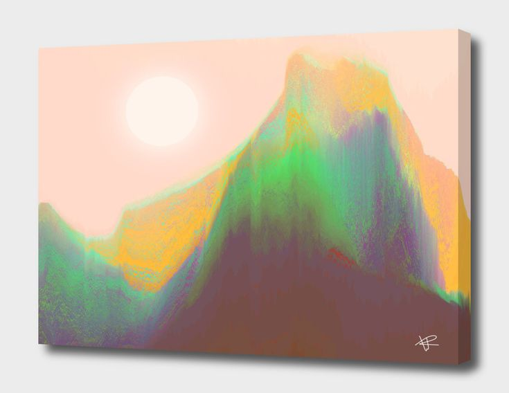 «Mountain Heat», Numbered Edition Canvas Print by Okti W. - From $49 - Curioos