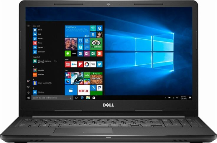"Dell - Inspiron 15.6"" Touch-Screen Laptop - Intel Core i3 - 8GB Memory - 1TB Hard Drive - Black - Front Zoom"