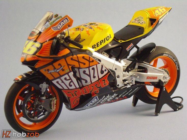 rattle can motorcycle | HobZob: Tamiya Honda Motorcycle (Valentino Rossi's Repsol Honda) Owned ...