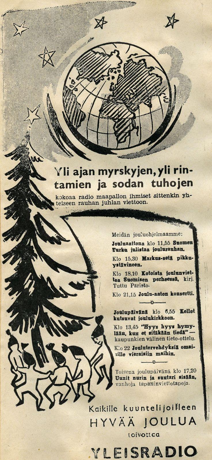 #vanhatmainokset #joulu #sota #Yleisradio #YLE