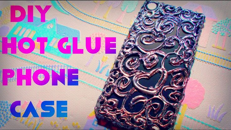DIY phone case | DIY hot glue phone case | Maison Zizou