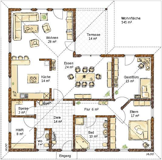25 legjobb tlet a k vetkez r l grundriss bungalow a pinteresten bungalow bauen haus. Black Bedroom Furniture Sets. Home Design Ideas