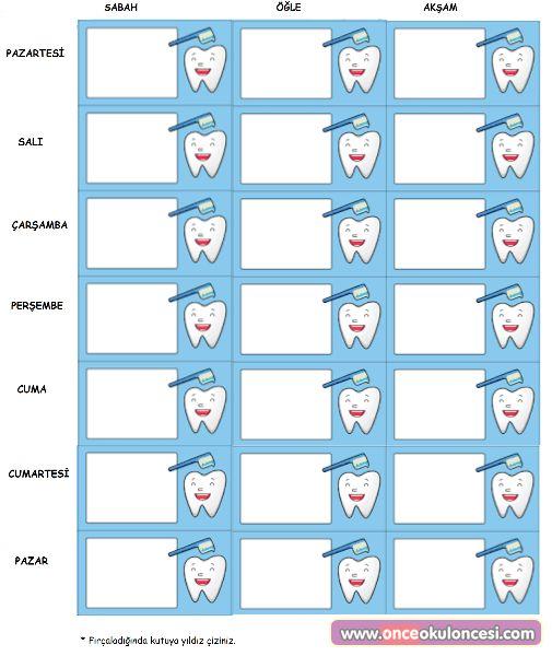 Diş Fırçalama Tablosu (yeni) - Önce Okul Öncesi Ekibi Forum Sitesi - Biz Bu İşi Biliyoruz