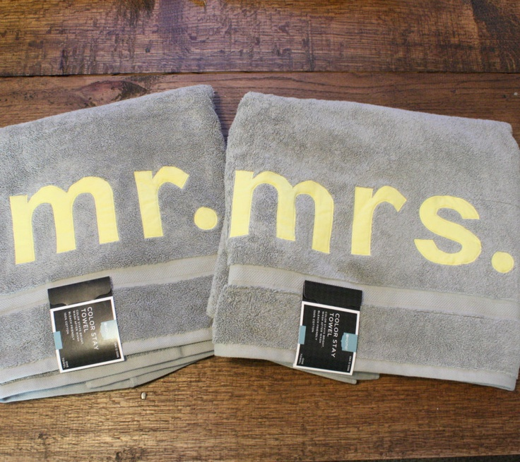 Must sell black mr and mrs bath or beach towels bath for Mr and mrs spa