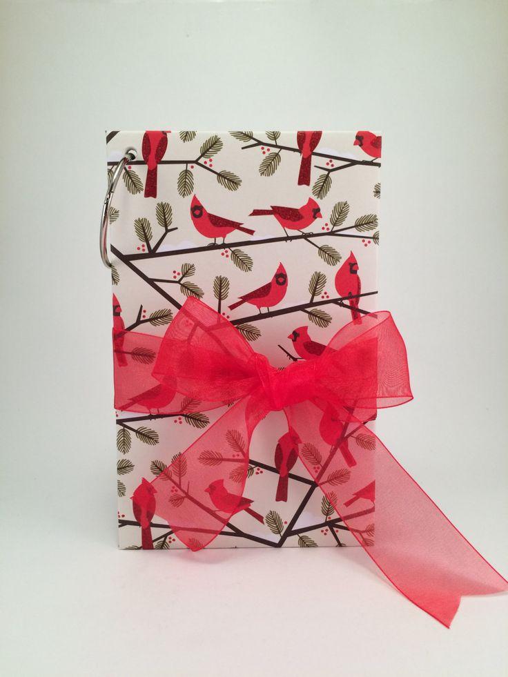 Christmas Card Holder, Mini Album for Keepsakes & Mementos, Scrapbook by SouthpawDesignCo on Etsy