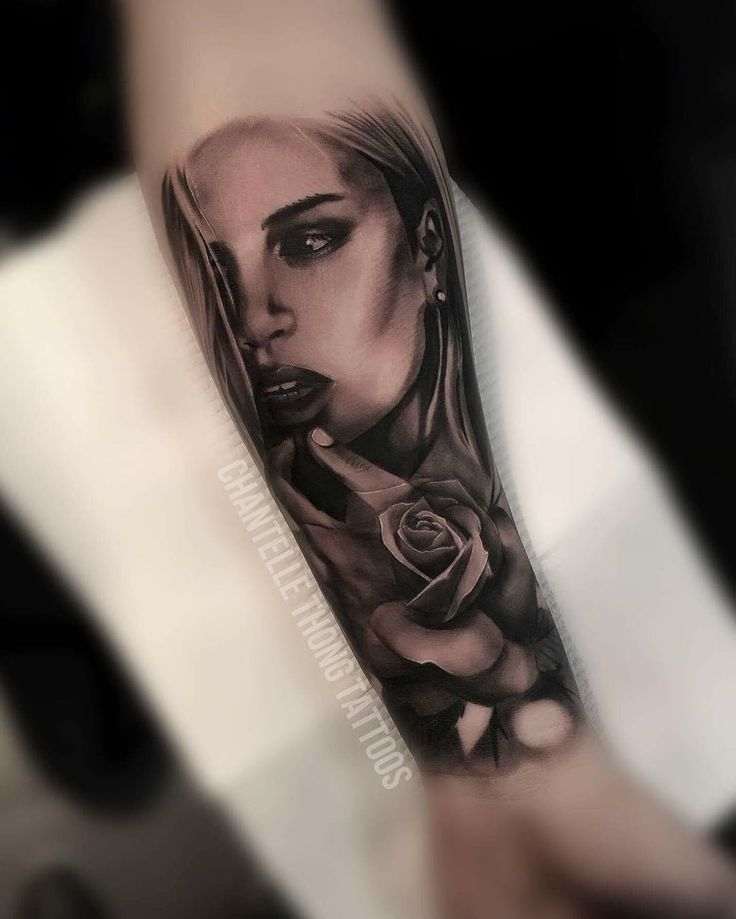 I thoroughly enjoy sexy ladies. Progress of a sleeve I'm working on @tatsupsupplyco @empiremelbourne #femaletattooartist #melbournetattooartist #melbournetattoos #ink #portraittattoo #portrait #tattoo #tattoos #sleeve #blackandgreytattoo #blackandgreysleeve #blackandgreyportrait #blackandgreyrealism #bnginksociety #bngink #realistictattoo #realism #realisticartist #rose #rosetattoo #inkjecta @hustlebutterdeluxe #chantellethongtattoos
