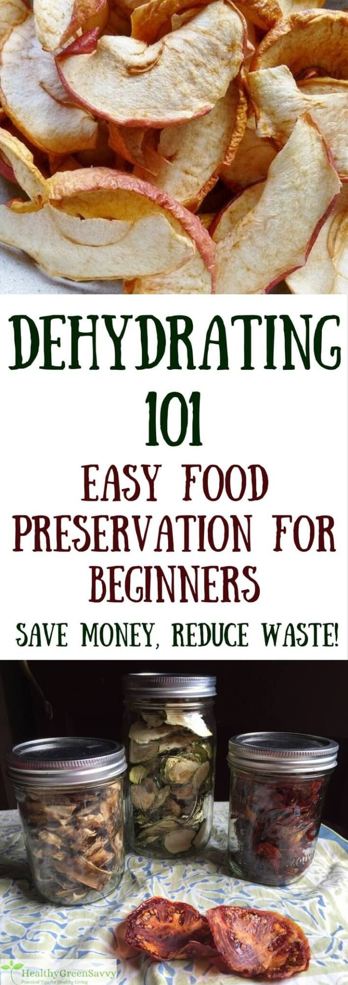 Dehydrating food is easy, economical, and lets you enjoy the bounties of your summer garden all year round! Never tried dehydrating food before? Here's what you need to know to get started. | dehydrating food for beginners | easy food preservation | green living tips | how to dehydrate food |