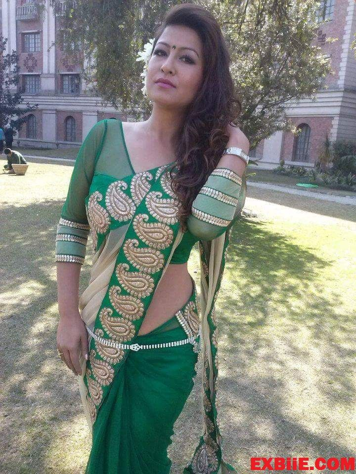Desi Saree Model Hot Figure