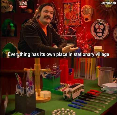 Mighty Boosh. OCD. Don't move that paper clip- seriously.