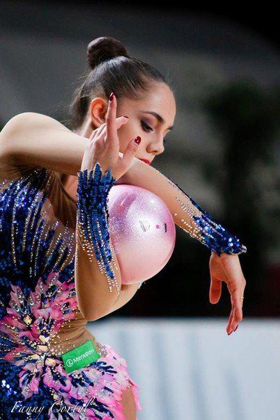 Margarita Mamun (Russia) won silver in ball finals at Grand Prix (Thiais) 2016