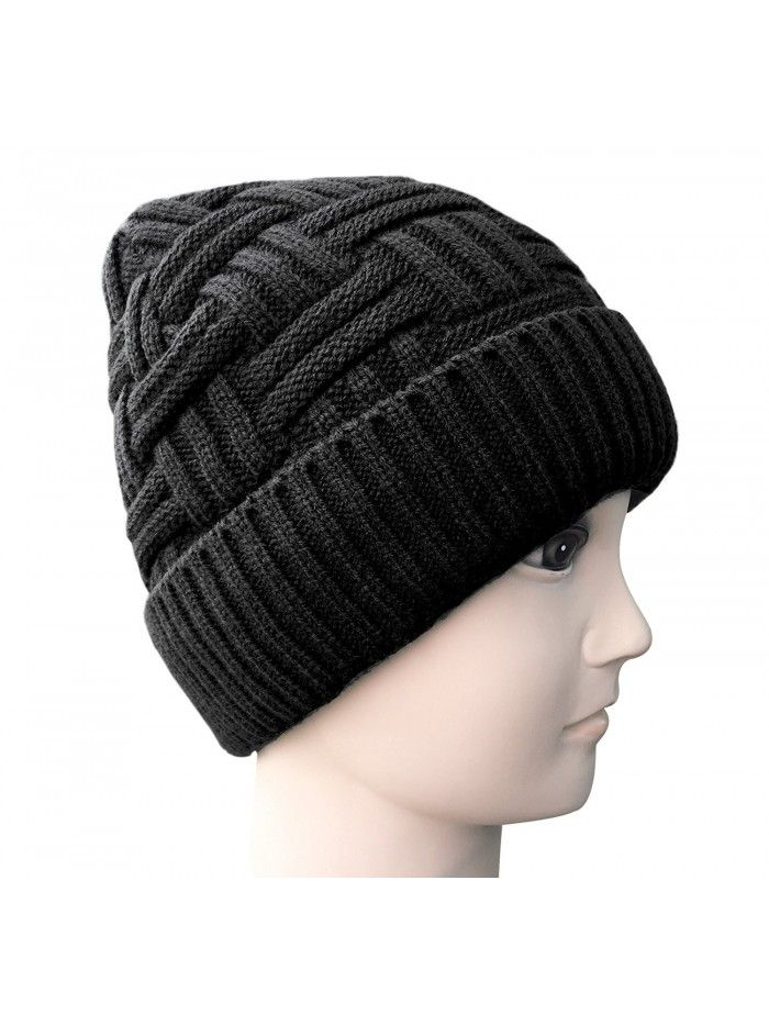 50dc6d8a7 Mens Winter Warm Knitting Hats Wool Baggy Slouchy Beanie Hat Skull ...