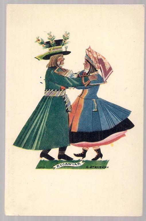 pocztówka STRYJEŃSKA Tańce polskie KUJAWIAK