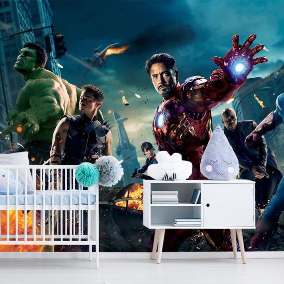 Iron Man Endgame Wall Art Marvel Comics Wall Mural Avengers Etsy Avengers Wallpaper Wall Art Mural