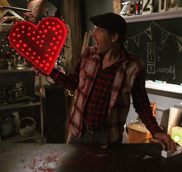 Handmade lightning heart