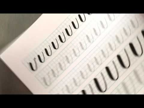 3 Top Tips for Learning Brush Lettering (Calligraphy) - YouTube. Good info on how to hold your brush