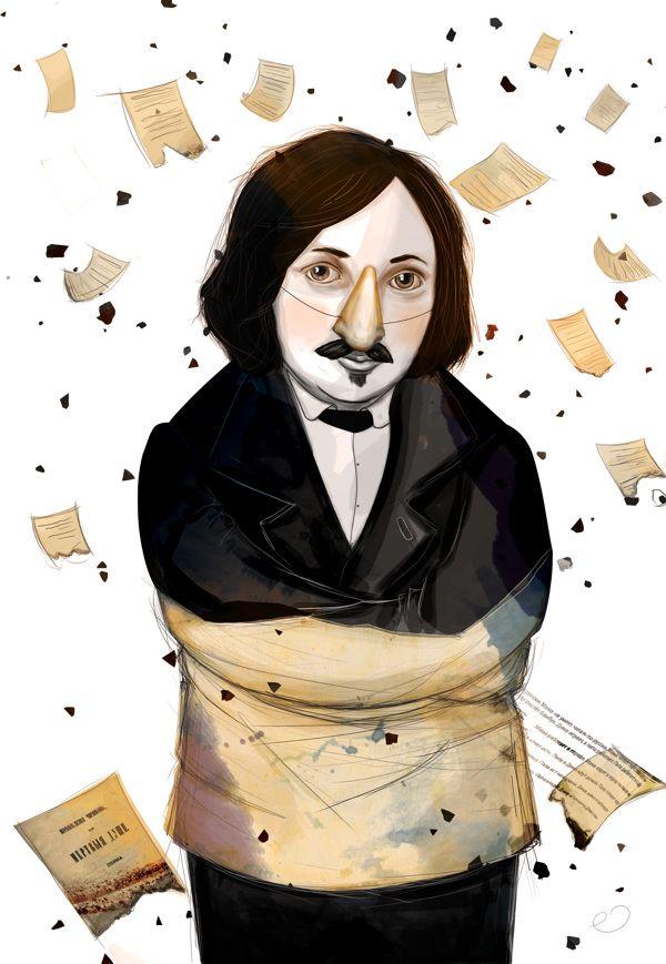 Nikolay Gogol * Editorial Illustration by Erhan Cihangiroğlu