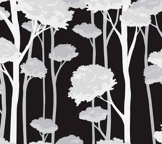 Fensterfolie Dekofolie selbstklebend weißer Winterwald Sichtschutz | www.4-haen.de