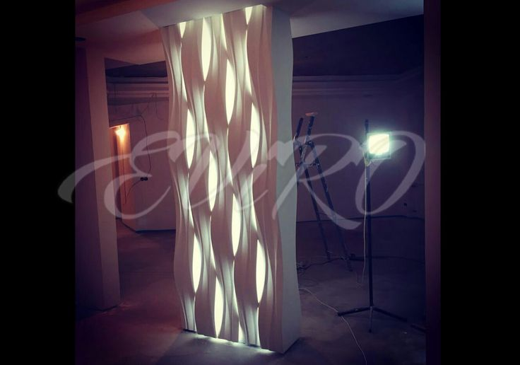 Компания ЕВиРО разработала уникальный продукт для дизайна интерьера! Световая гипсовая 3d перегородка!