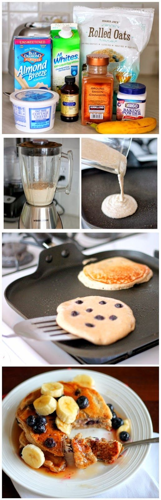 Oatmeal Cottage Cheese Banana Pancakes {high in protein, gluten-free}