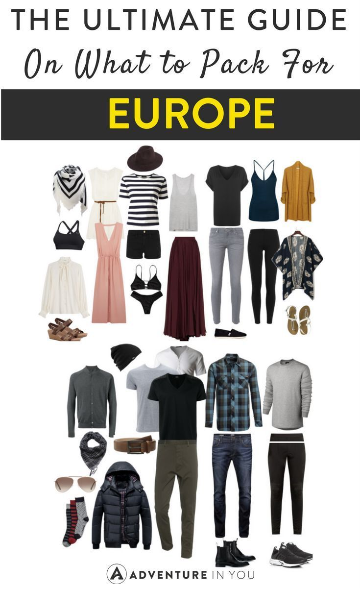 Europe Packing List | Traveling Europe? Here's our ultimate guide on what to bring!