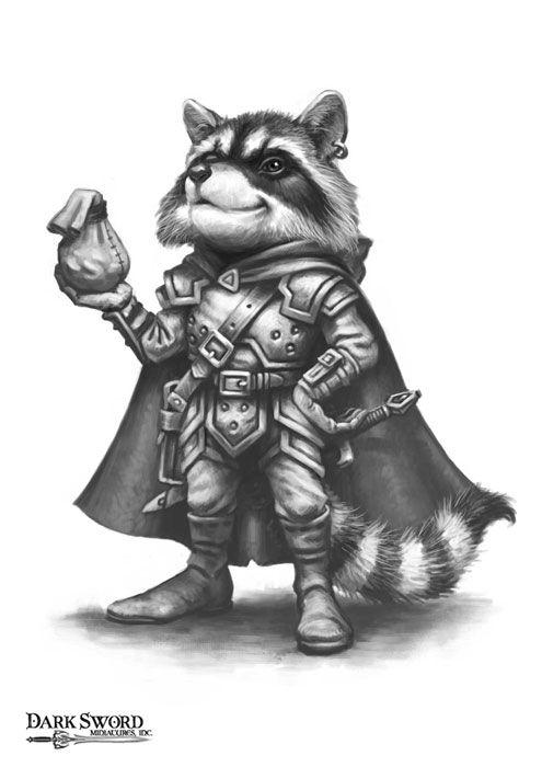 Raccoon Thief - Anthropomorphic Animals - Miniature Lines
