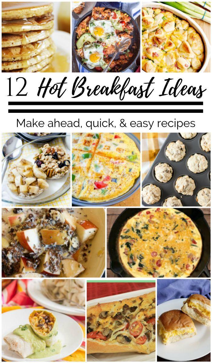 12 Hot Breakfast Ideas Breakfastrecipes Delicious Breakfast Recipes Breakfast Recipes
