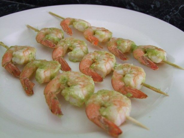 Traditional Grilled Prawns With Raw Sauce