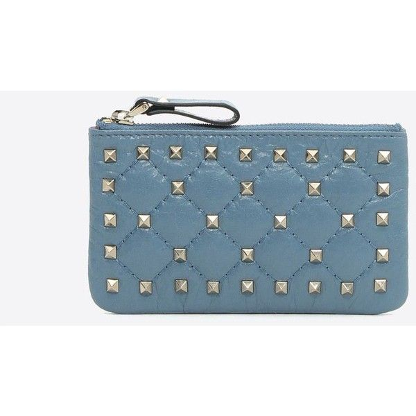 Valentino Garavani Rockstud Spike Keyring ($380) ❤ liked on Polyvore featuring accessories and pastel blue