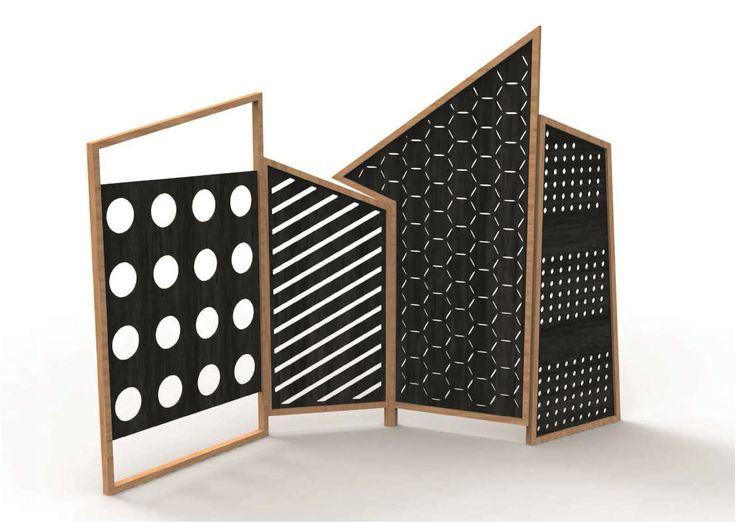 Paravento in ferro OPTO by Colé Italian Design Label design Lorenz*Kaz