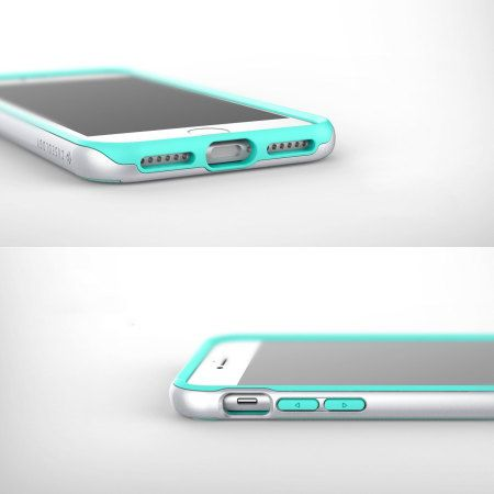 £17.99 The Wavelength Series tough case in turquoise mint and gold keeps your iPhone 7 safe, slim and stylish.