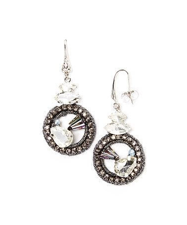 This Cubic Zirconia Round Crocheted Drop Earrings by RUSH by Denis & Charles is perfect! #zulilyfinds