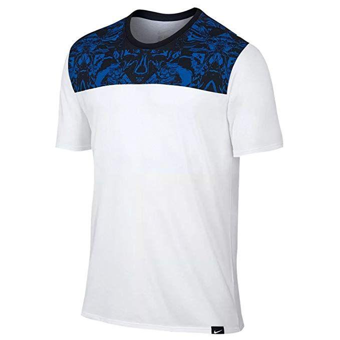 detailed look 5e8ef 30d1e Nike Mens KD Kevin Durant Dri-Fit Graphic Shirt White/Blue ...