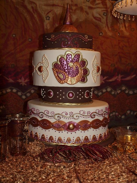 Mehndi Cake Table : Best images about mehndi cakes on pinterest