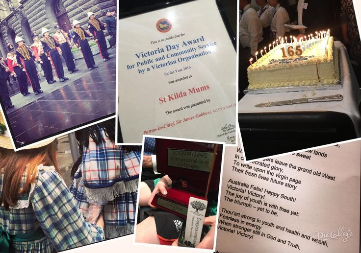 Happy birthday Victoria.  Today 165 years ago Victoria separated from NSW. Today at the Melbourne Town Hall St Kilda Mums, Geelong Mums and Eureka Mums were awarded the Victoria Day award for public and community service. What amazing recognition for our volunteers and supporters. Thank you!!!