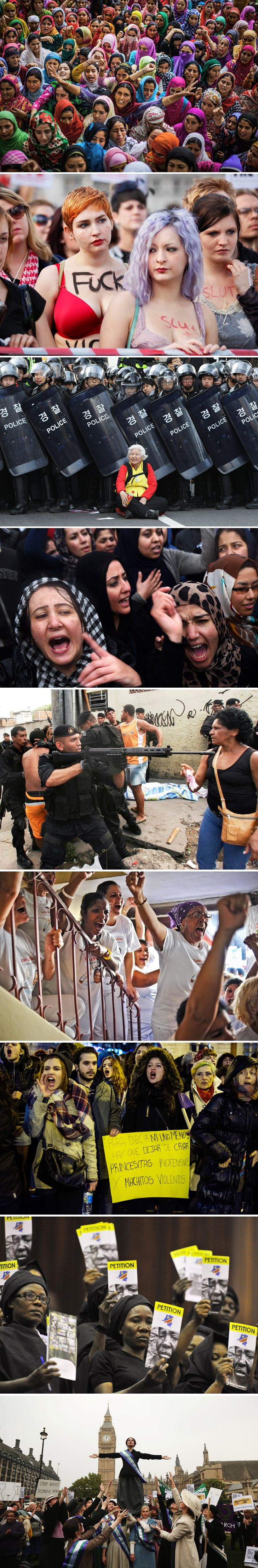 """The Huffington Post: """"60 Stunning Photos Of Women Protesting Around The World"""""""