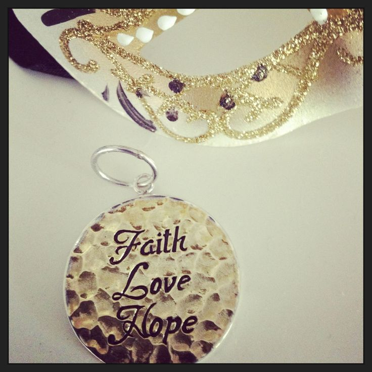 Sterling Silver and Brass handmade Faith, Love Hope