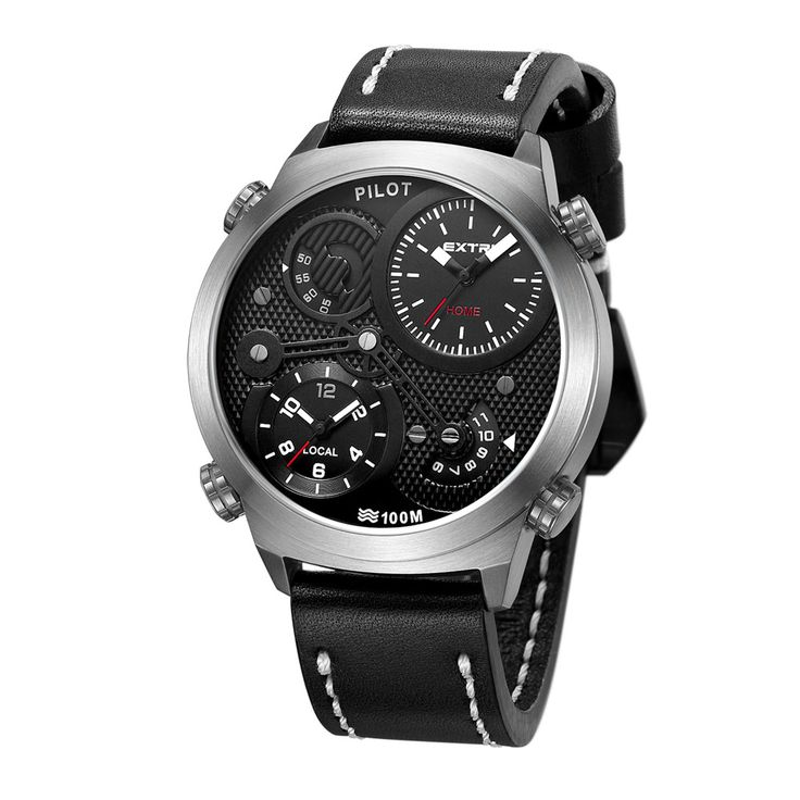 Modello X3015B Pilot di Extri Watches: affidabile movimento Miyota dual time, acciaio inox spazzolato, sistema di espulsione del cinturino facilitato, vetro zaffiro rinforzato antigraffio con rivestimento anti-riflesso e cinturino in silicone in dotazione. ----- X3015A Pilot model by Extri Watches: reliable Miyota dual time movement, brushed stainless steel, easy extrusion system of the strap, scratch-resistant sapphire crystal reinforced with anti-reflection coating, free silicone strap