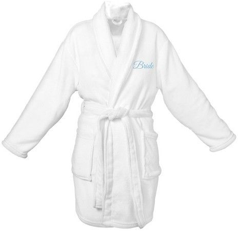 Cathy Women's Bride Plush Robe - OSFM