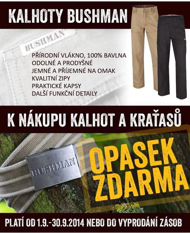 Máme pro vás zajímavou akci: kupte si kalhoty či kraťasy a získáte opasek zdarma!