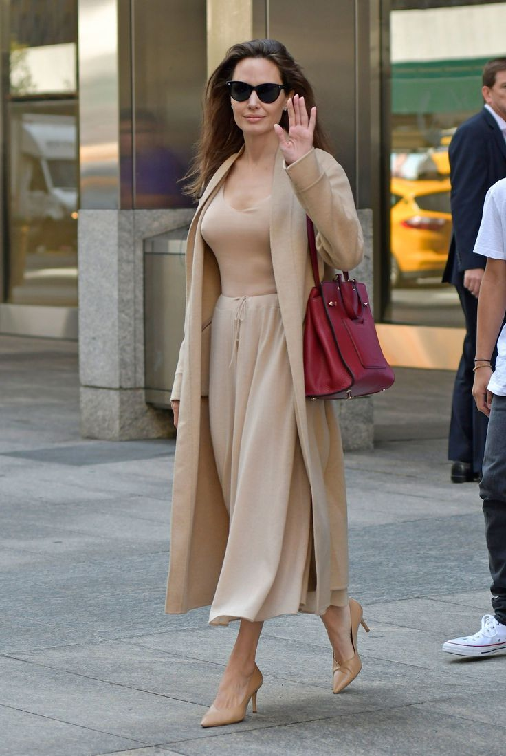 87edbd93b7e Angelina Jolie Hits the New York Streets in a Chic New Look