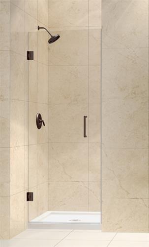 dreamline unidoor 23 frameless pivot shower door clear 3