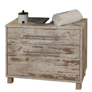 Waschbeckenunterschrank Moncton - Mit zwei Schubladen - Eiche antik der Marke Giessbach, Maße: Breite: 65.3 cm Höhe: 54.